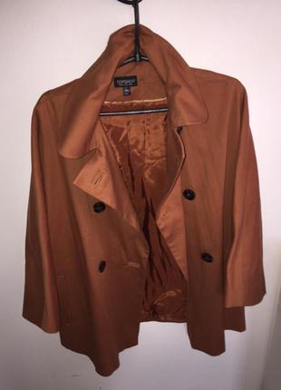 Пальто topshop oversize бойфренд свободный крой, супер цвет, на теплую осень весну