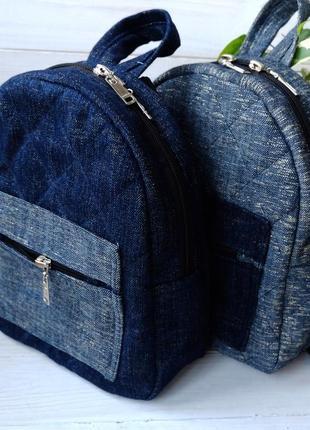 Джинсовый рюкзак , небольшой городской рюкзак