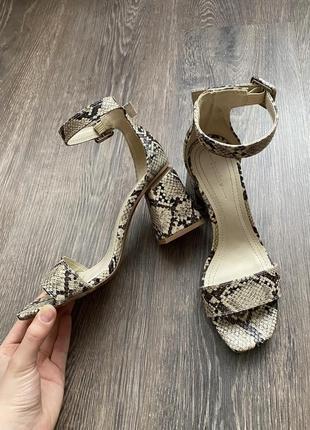 Туфли bershka в змеиный принт