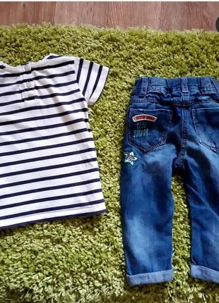 Летний комплект:джинсы и футболка next9 фото