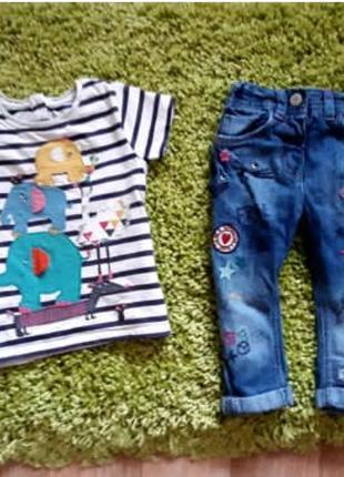 Летний комплект:джинсы и футболка next