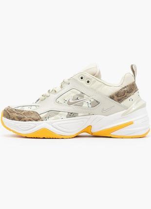 Nike m2k tekno beige yellow🆕 шикарные кроссовки найк🆕 купить наложенный платёж