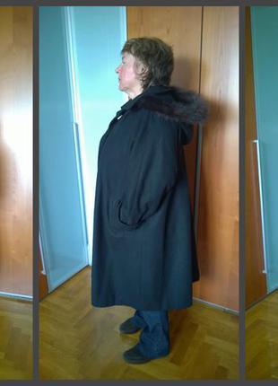Фантастическое шерстяное пальто-трансформер oversize (отделка норка) salzburger, австрия