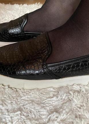 Стильные чёрные мокасины лоферы цвет чёрный бренд h&m