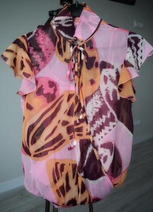 Блузон с в тигровый раскрас