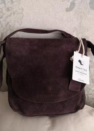 Бесподобная замшевая сумочка clarks👜💣🌹🔥