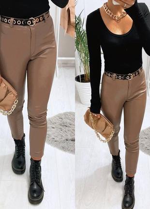 Эко кожа брюки  - лосины