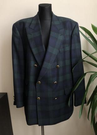 Стильный шерстяной пиджак р.xl