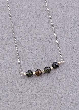 Подвеска 'sunstones' турмалин серебро(925) 42 см 0956970