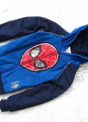 Кофта реглан бомбер худи с капюшоном spiderman marvel