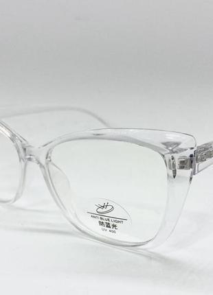 Очки компьютерные в прозрачной оправе жіночі окуляри