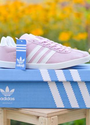 Кросівки adidas gazelle  pink натуральний замш!