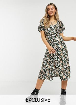Asos платье эксклюзив! в винтажные цветы! роскошь и комфорт!
