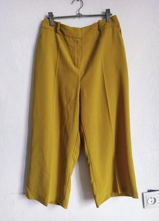 Классные брюки кюлоты на высокой посадке