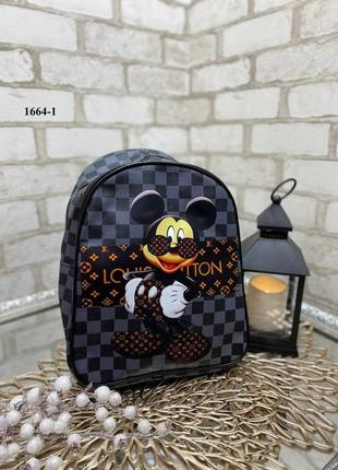Стильный рюкзак микки синий, коричневый