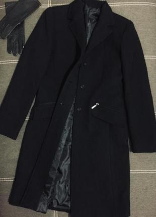 Стильное демисезонное чёрное пальто 🇮🇹
