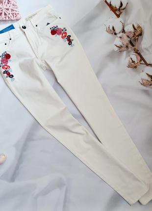 Белые джинсы скинни esmara плотные,  стрейч-коттон