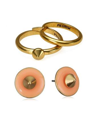 Набор: два кольца и серьги pilgrim дания элитная ювелирная бижутерия