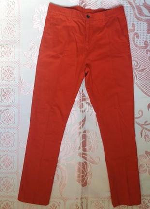 Женские брюки джинсы штаны красные h&m 44 размер s