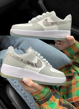 Кросівки nike air force grey snake кроссовки