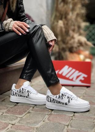 Nike air force dior 🍏 стильные женские кроссовки найк аир форс