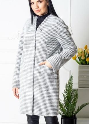 Бомбические пальто с альпаки,премиум качество, размер 52.