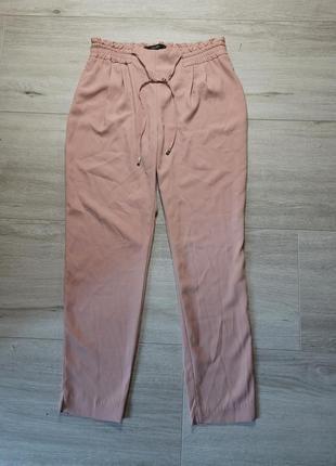 Легкие летние штаны джоггеры  zara s нюдовые