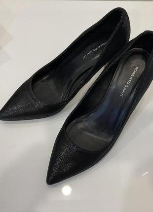 Кожаные туфли roberto santi испания 37р . 23см по стельке