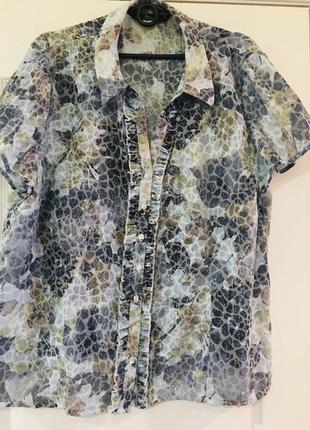 Нежная ,приятная и качественная рубашка с коротким рукавом