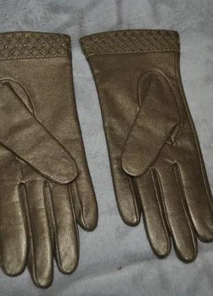 Новые кожаные перчатки m&s англия