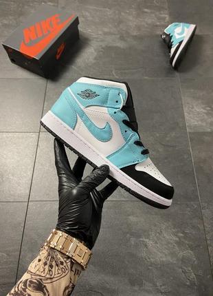 Nike air jordan 1 turquoise white.