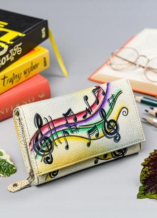 Кожаный кошелек r-n19-art-08 yellow