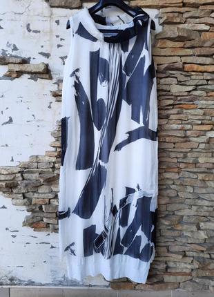 Шикарное из натурального шелка на подкладке платье 👗большого размера