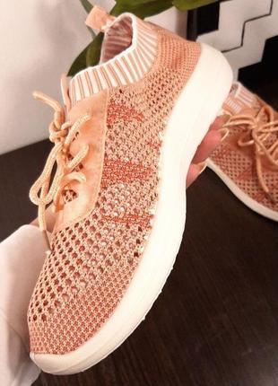 Женские текстильные кроссовки мокасины носки кеды