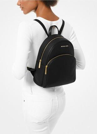 Оригинал michael kors рюкзак черный кожаный abbey medium quilted leather backpack