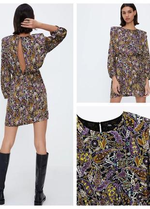 Платье zara с принтом
