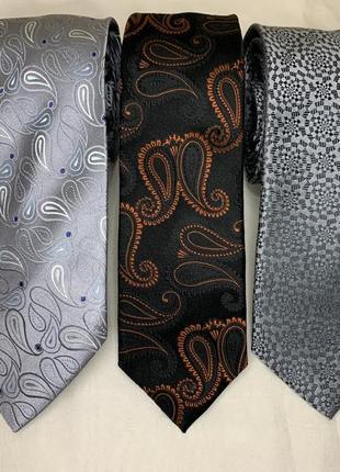 Шелковые галстуки autograph, topwise, jeff banks