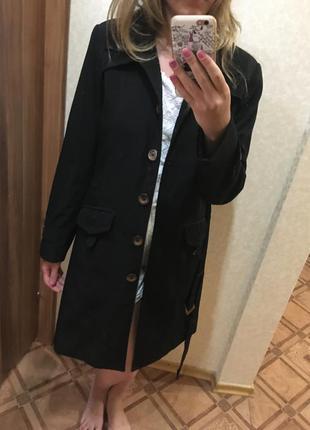 Плащ пальто удлиненный тренч