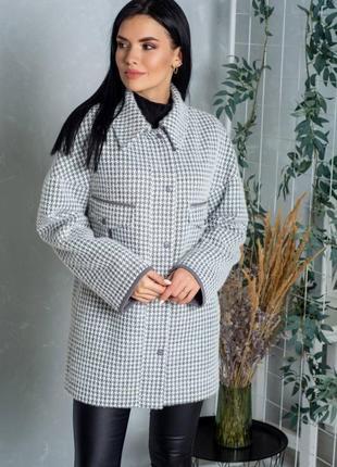Шикарное пальто с воротником, люкс качество,альпака, размер 54.