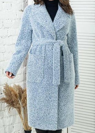 Шикарное пальто с воротником, люкс качество, размер 48.