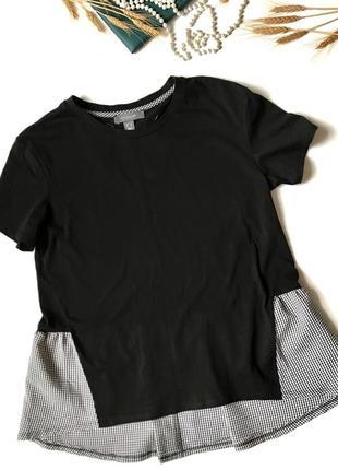🖤новая чёрная оверсайз футболка primark m/l