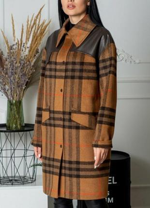 Пальто,мега стильное,хит 2020, люкс качество, размер 44.