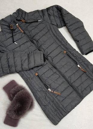 Куртка демисезонная удлиненная