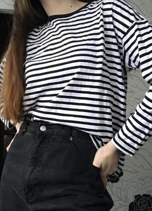 Лонгслив кофта реглан полосатый лонгслів футболка с длинным рукавом