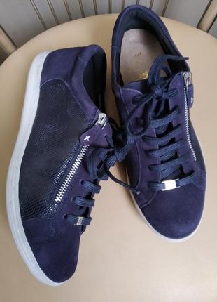 39 р. стильные замшевые кеды полуботинки туфли van dal
