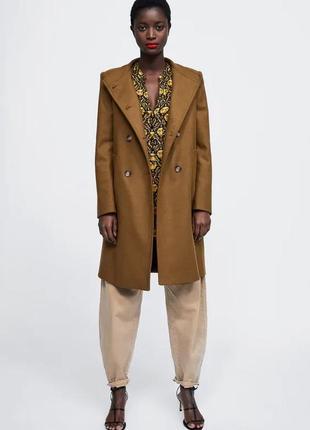 Шикарное пальто цвета toffee от zara.