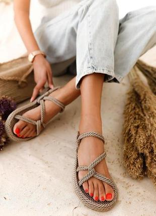 Плетеные сандалии 💍 платина 💍100% ручная работа
