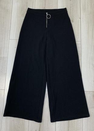 Чёрные штаны кюлоты zara