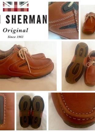 Новые кожаные стильные унисекс фирменные туфли ботинки кежуал ben sherman 37, 24-24,5см