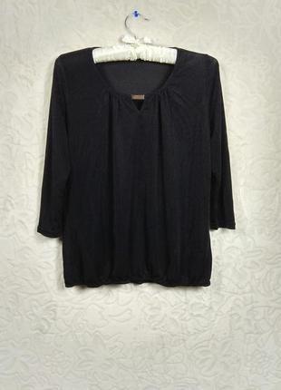 Черная кофта кофточка блузка блуза 3/4 м 38 10 sophie